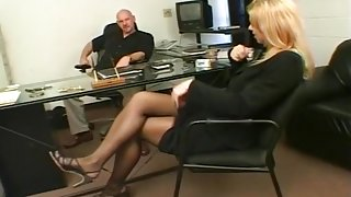 Horny Blonde Babe Fucks Her Way Into A New Job
