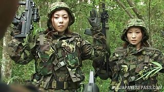Japanese Female Army Privates Are Captured